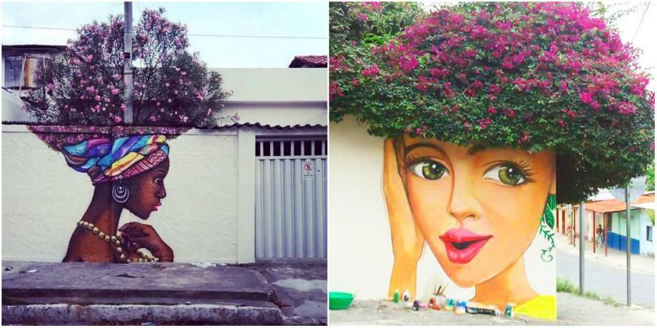(foto) Atunci când natura și picturile murale se combină, se nasc adevărate opere de artă