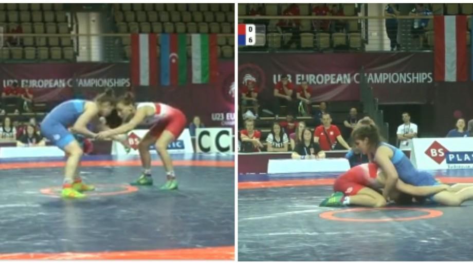 Iulia Leorda aduce cea de-a treia medalie pentru Moldova la Campionatul European de lupte U-23