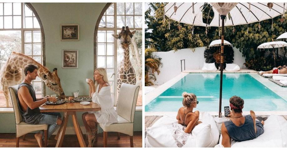 (foto) Un cuplu călătorește în jurul lumii și este plătit cu 9 000 de dolari pentru fiecare postare pe Instagram
