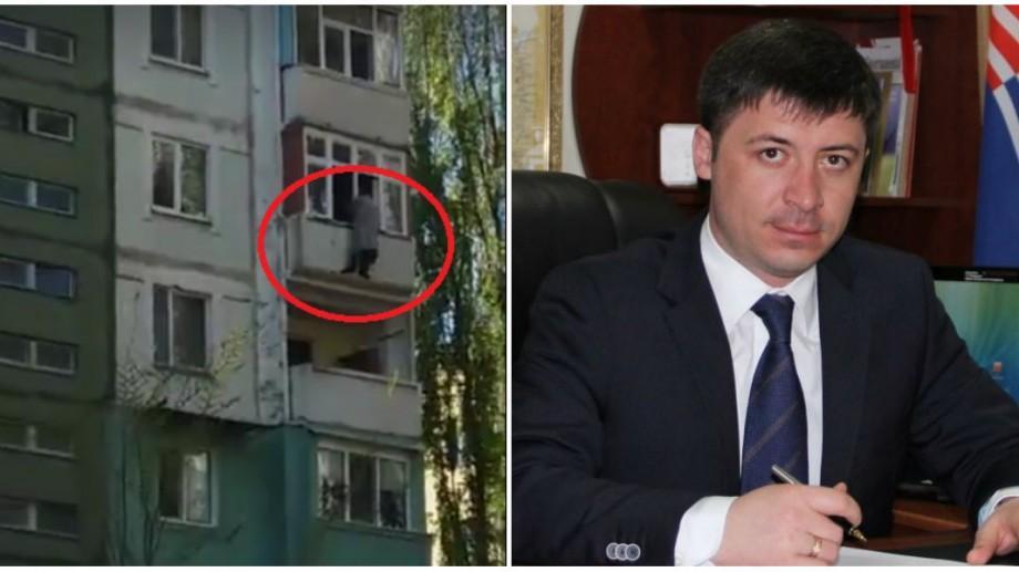 (video) Fostul președinte al raionului Criuleni a amenințat să sară de la balcon când s-a pomenit cu mascații la ușă
