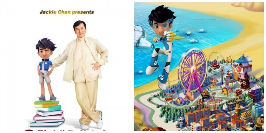 (foto,video) Actorul Jackie Chan a devenit personaj într-un serial de animație în 3-D
