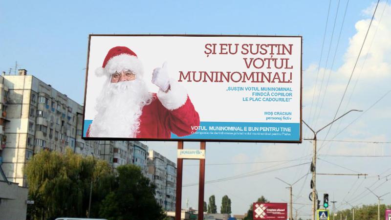 (foto) Susțin votul muninominal – o campanie de parodiere a schimbării sistemului de vot din Moldova
