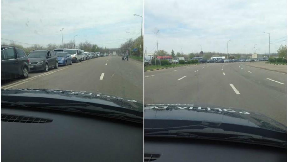 """Șoferii sunt atenționați să evite punctul de trecere """"Leușeni – Albița"""". Se circulă greu din cauza unor deficiențe tehnice"""