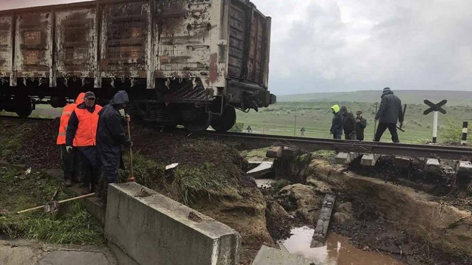 (foto) Cât de grav au fost afectate unele porțiuni de cale ferată în urma ploilor