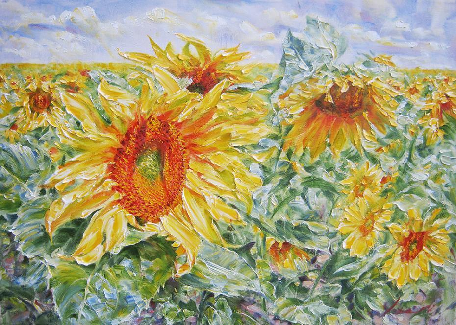 Sunflower/Oil on canvas/50 x 70cm/£1520