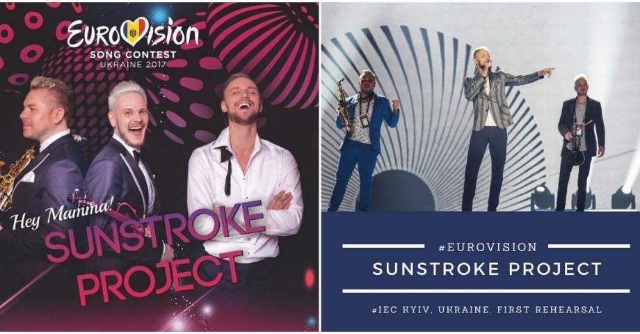 (video) Sunstroke Project au urcat pe scena de la Eurovision pentru prima repetiție