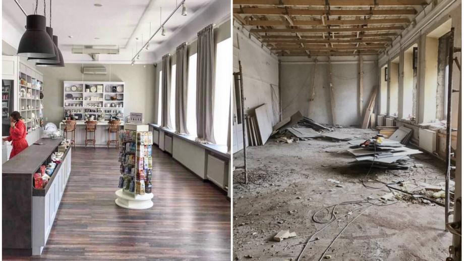 (foto, video) Cum a reușit un cuplu să transforme o clădire istorică din Chișinău aflată în stare deplorabilă