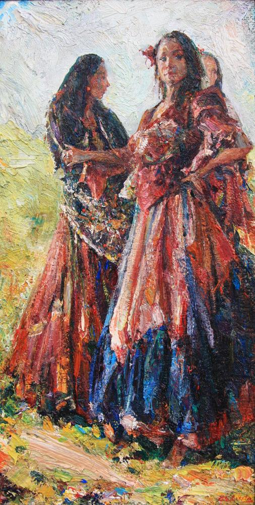 The Dancers/Oil on canvas/60 x 30cm/£1900