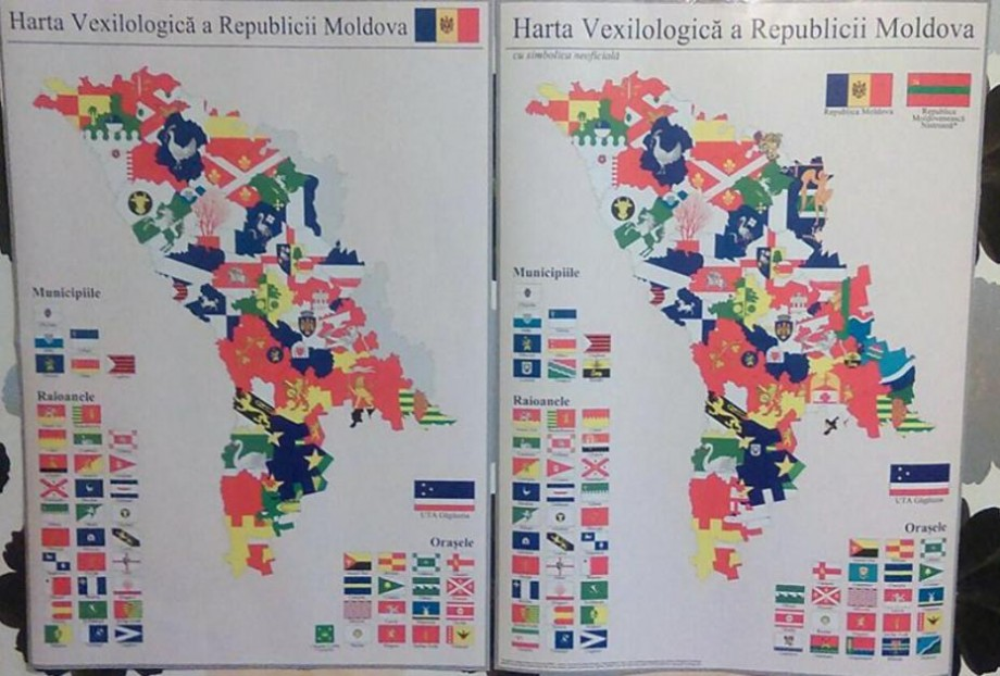 (foto) Steagurile fiecărui raion din Moldova adunate într-o hartă interactivă