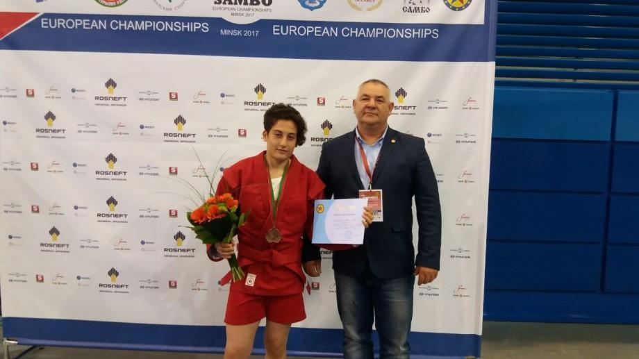 Prima medalie pentru Moldova la Campionatul European de sambo, rezervat seniori