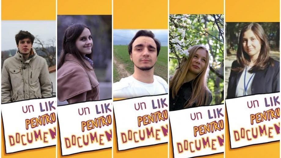 """(foto) Cine sunt elevii care fac parte din juriul """"Un LIKE pentru documentar"""" din cadrul CRONOGRAF 2017"""
