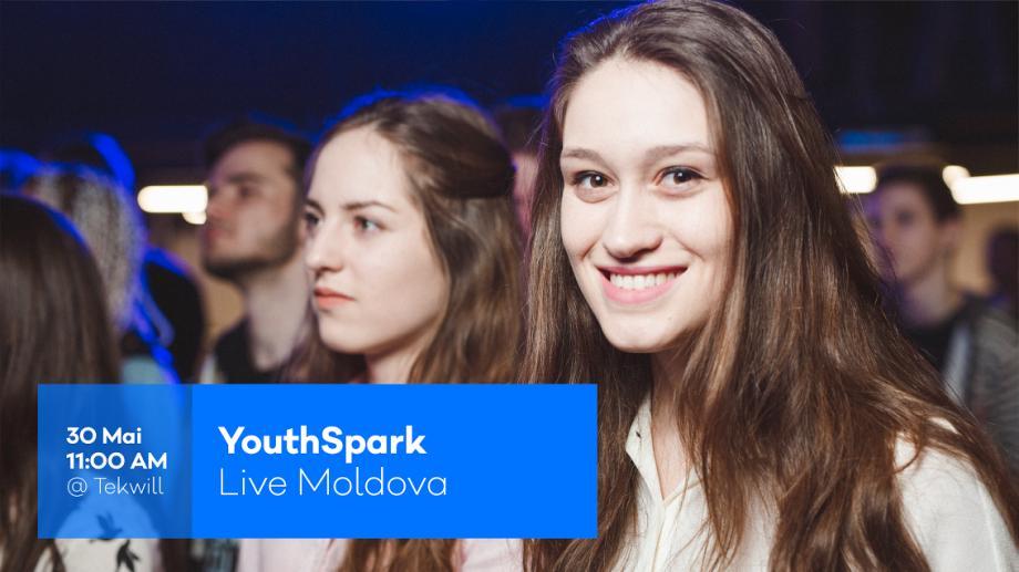 Plănuiește-ți viitorul în domeniul IT la prima ediție YouthSpark Live Moldova. Intrarea este liberă