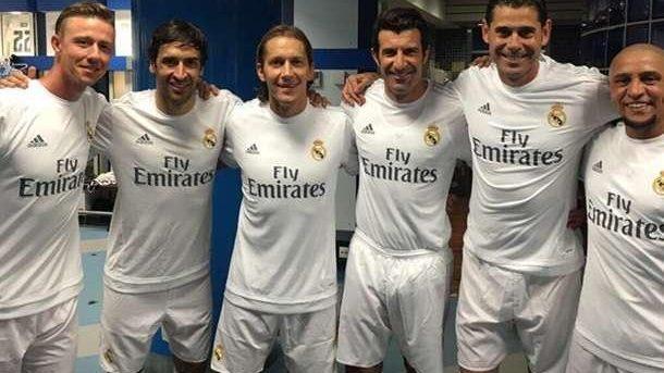 (video) Legendele echipei Real Madrid au marcat patru goluri legendelor AS Roma