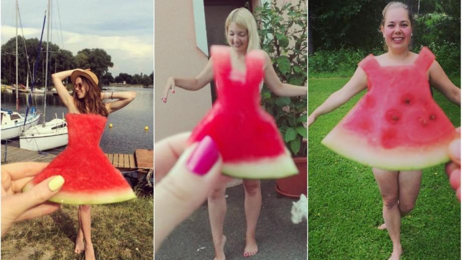 Rochiile din pepene verde, un nou trend face senzație pe Instagram