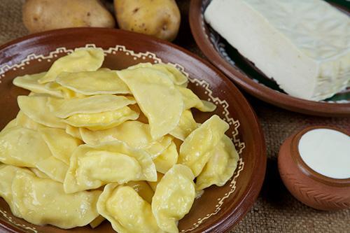 Вареники с бранзой и картофелем, 149