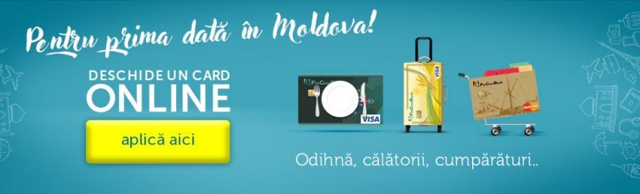 În premieră pentru Moldova, acum poți solicita cardul bancar online