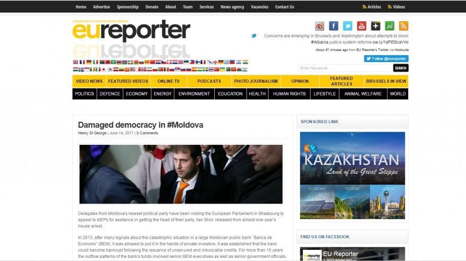 Euroreporter despre cazul Ilan Șor: Democraţia distrusă în Moldova