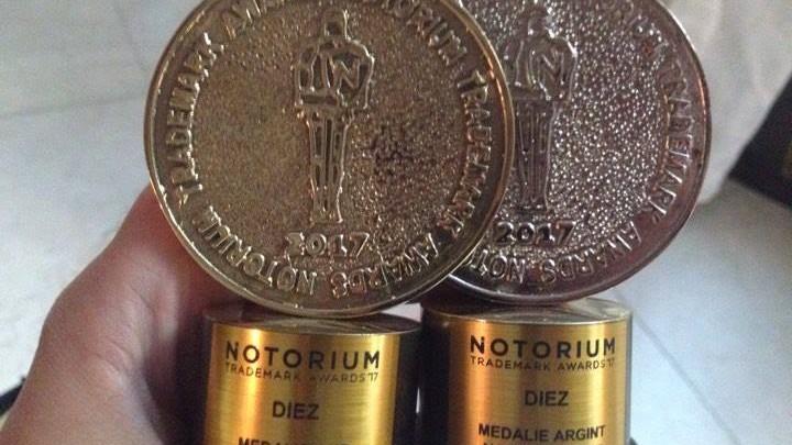 (foto) Echipa #diez a câștigat medaliile de aur și de argint în cadrul categoriilor media de la Gala Notorium Trademarks 2017