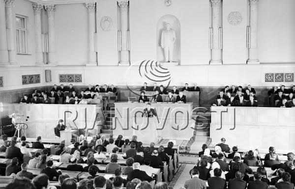 715085 01.12.1971 Сессия Верховного Совета Молдавской ССР. А. Варфоломеев/РИА Новости