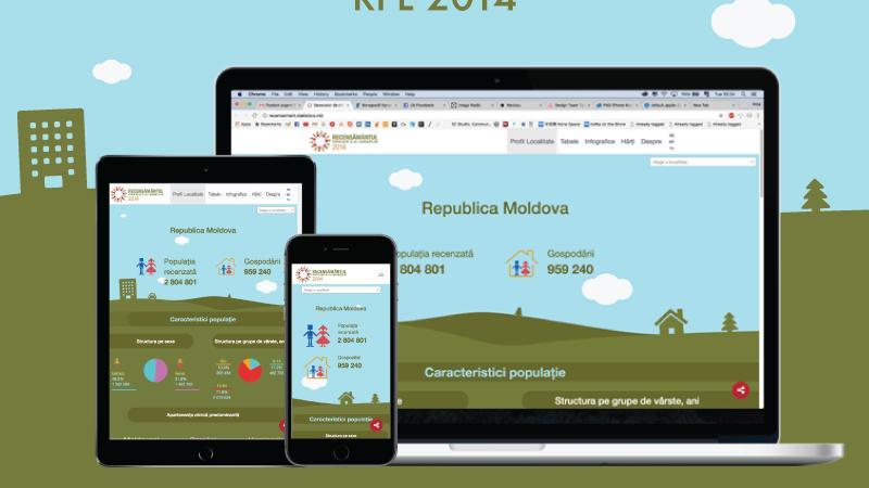 (grafic) Acum poți accesa rapid și gratuit datele Recensământului 2014. Explorează aplicația lansată de BNS