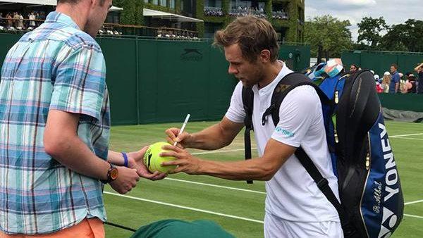 Tenismenul moldovean Radu Albot a fost învins în turul doi la Wimbledon
