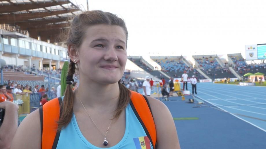 Atleta Alexandra Emilianov a devenit din nou campioană europeană printre junioare U-20 la aruncarea discului