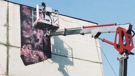 (foto, video) O nouă pictură murală apare la Chișinău. Cine este creatorul ei