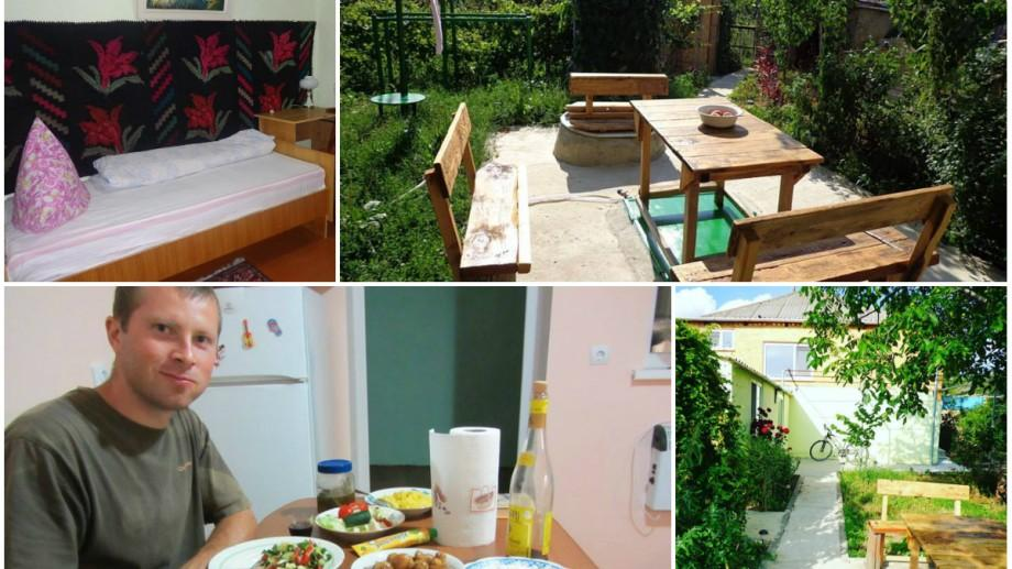 (foto, video) Proprietarul îți gătește mămăligă și ardei copți. Cât îi costă pe turiști o noapte în Costel Hostel – primul hostel din sudul Moldovei în stil tradițional