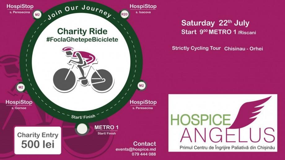 """""""Foc la ghete pe biciclete"""": Participă la un tur caritabil cu bicicleta și susține cauza Hospice Angelus Moldova"""
