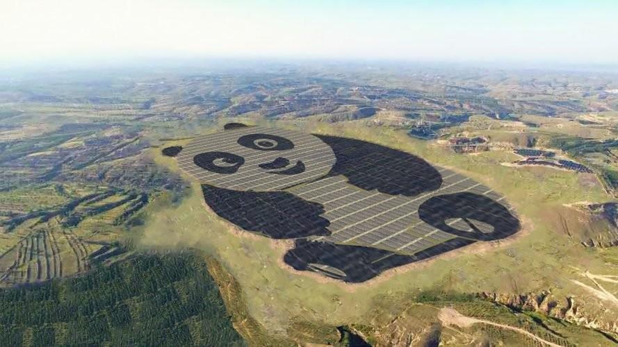 3,2 miliarde de kilowați/oră de energie solară în 25 de ani. În China a fost construit un parc solar în forma unui panda
