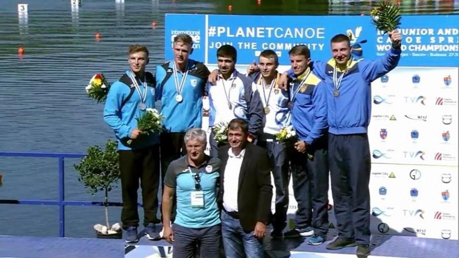 Doi tineri din Moldova au devenit campioni mondiali la canoe dublu pe distanța 500 de metri