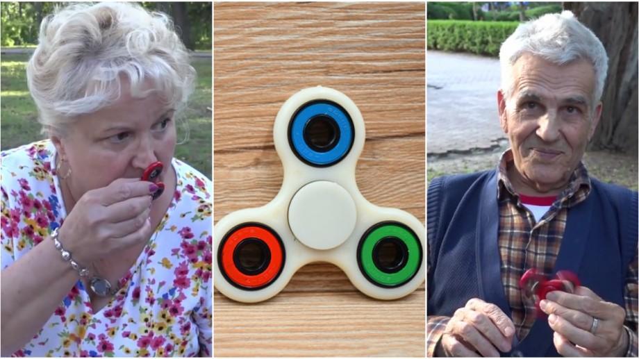 """(video) Tineri în etate: Ce cred cei vârstnici despre fidget spinnere: """"Chiar mi-aș cumpăra ca să mă liniștesc"""""""