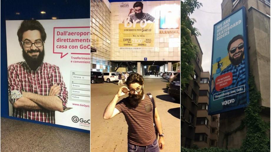 (foto) Cum e să fii imaginea diferitor branduri din lume. Povestea tânărului din Moldova care își vede fața peste tot