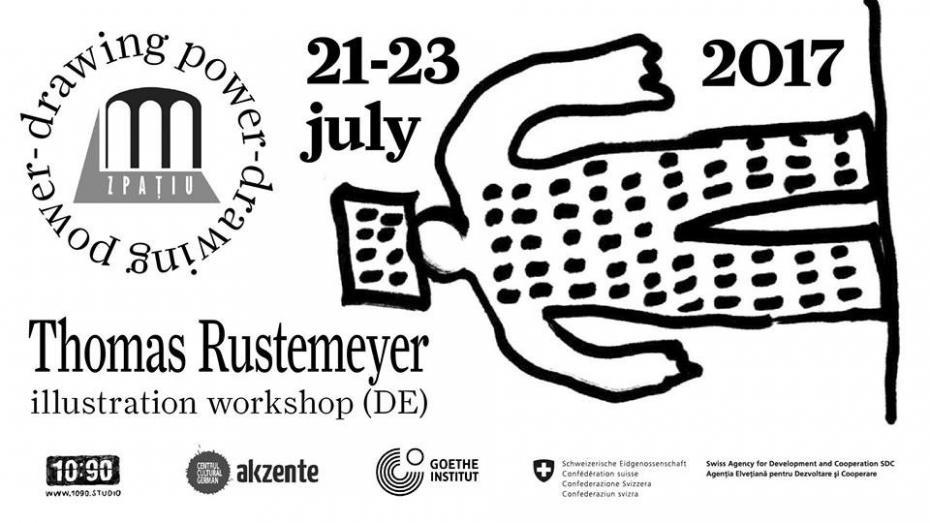 Participați la un workshop cu un artist din Germania pentru a afla cum reflectă ilustrațiile realitățile politice
