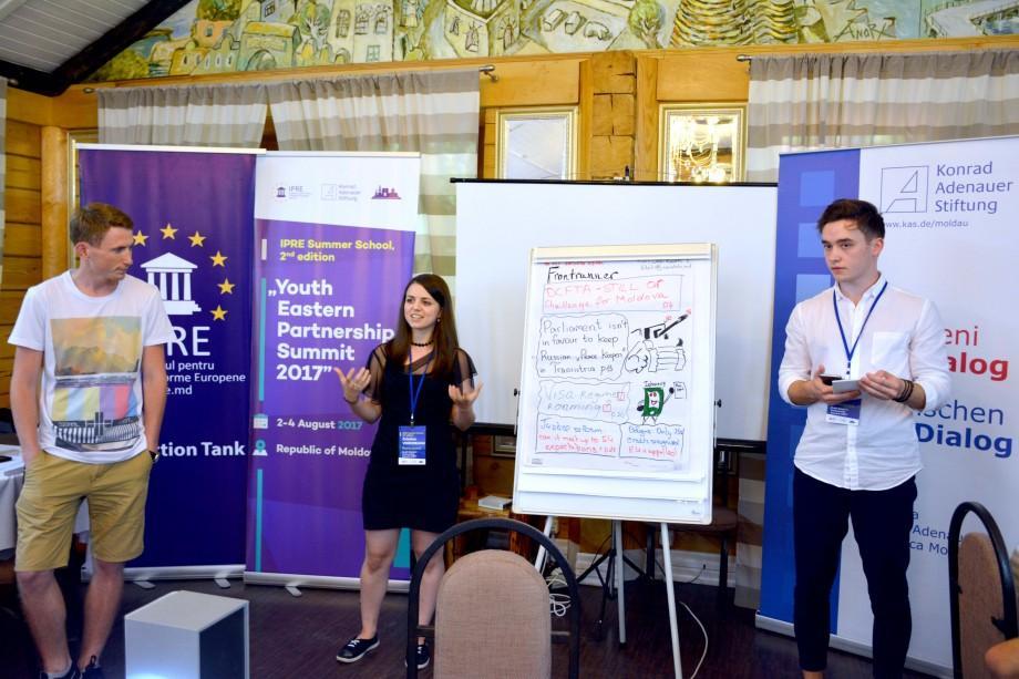 (foto) 35 de tineri interesați de integrarea europeană din Moldova, Ucraina și Georgia au participat la Summitul Tinerilor Parteneriatului Estic