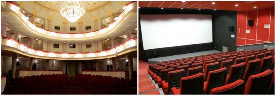 (videografic) Evoluția, în comparație, a numărului de cinematografe și teatre din Moldova