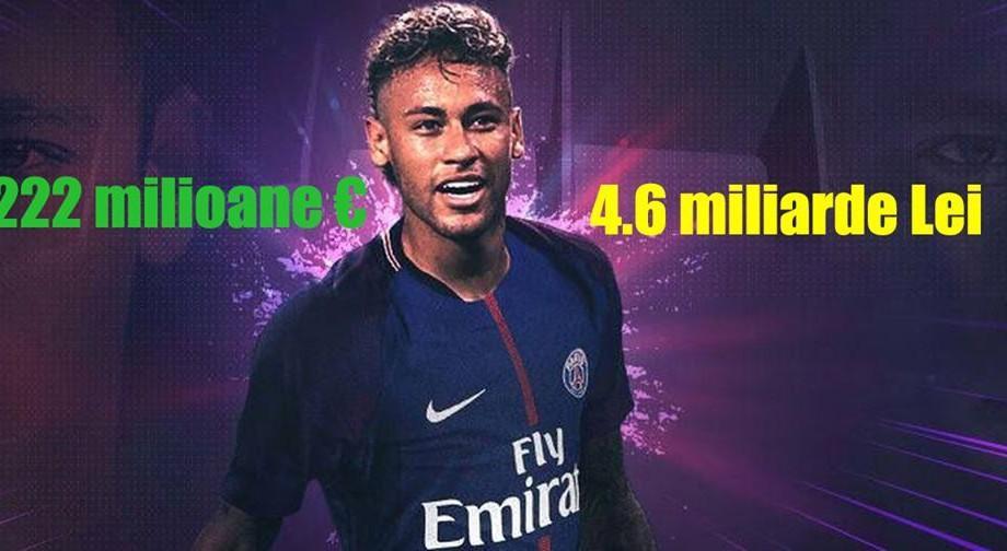 (infografic) Neymar, cât 3% din PIB-ul Moldovei. Ce ar putea face țara noastră cu banii plătiți pentru fotbalist