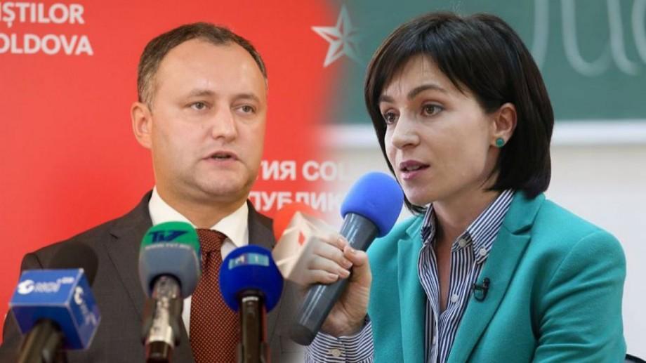 (sondaj) Dacă duminica viitoare ar avea loc alegeri prezidențiale, Maia Sandu și Igor Dodon rămân principalii favoriți
