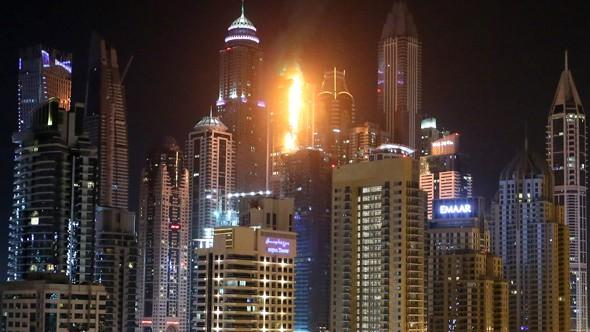 A izbucnit un incendiu la Tiger Tower, un alt zgârie-nori din Dubai