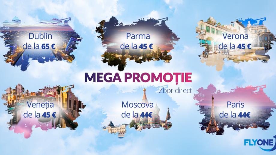 Prinde oferta de toamnă de la Fly One!  Zboară cu doar 40 de EUR spre Europa și Rusia