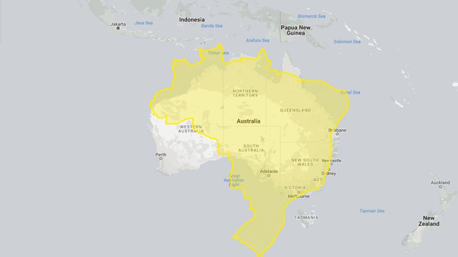 """(foto) """"SUA este la fel de mare ca Australia"""". Cum arată țările în mărimea lor naturală"""