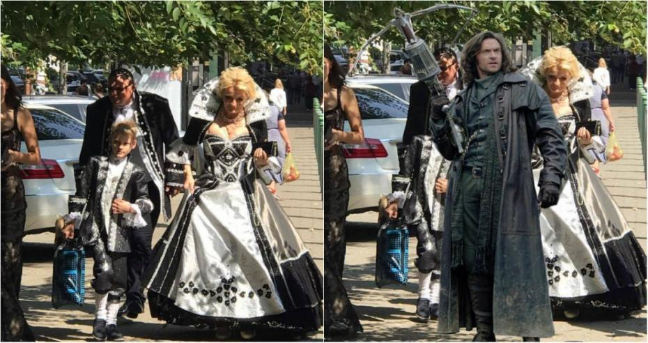 (foto) Rupți din poveste sau ce costume extravagante au purtat nașii la o nuntă din Chișinău