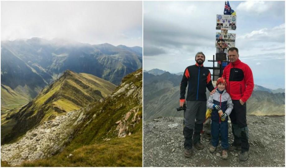 (galerie foto) La 7 ani scrie istorie. Nichita Condratiuc, cel mai tânăr moldovean care a urcat pe cele mai înalte vârfuri ale României