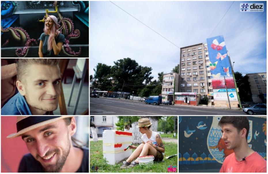 (foto, video) Pictura urbană în Chișinău: Arta care se cațără pe pereți și oamenii care au grijă ca aceasta să nu fie ștearsă