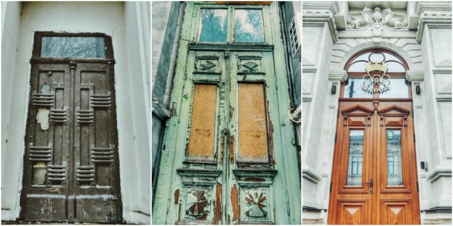 (foto) Ușile de pe străzile Chișinăului. Care sunt perlele din strada Alexandr Pușkin