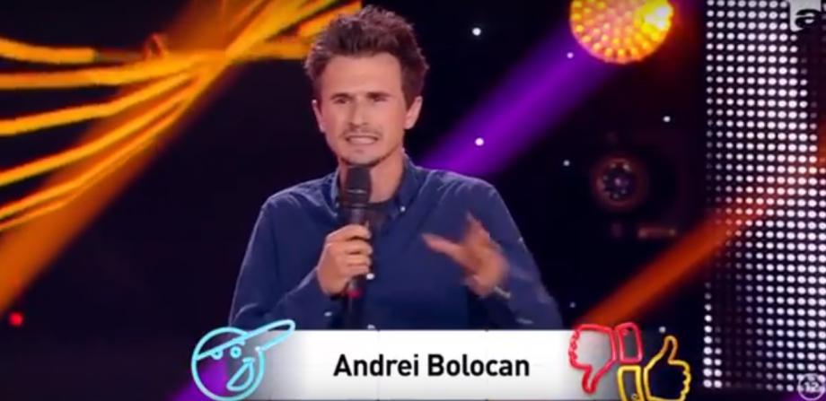 """(video) """"Nu mă așteptam un copil să iasă de acolo de unde noi uneori nici cu degetul nu nimerim."""" Andrei Bolocan a făcut o vizită la iUmor"""