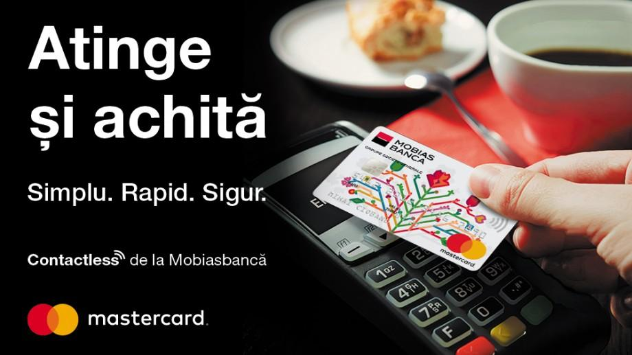 Prinde viteză cu cardurile Mastercard® contactless de la Mobiasbancă