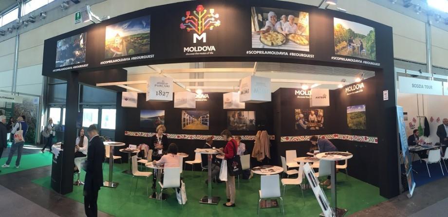 Oferta turistică a Moldovei a fost promovată la cel mai mare târg de profil din Italia