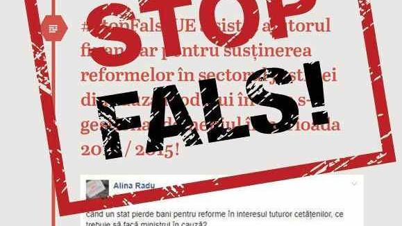 Atenţie: încercare de deturnare a campaniei STOP FALS!