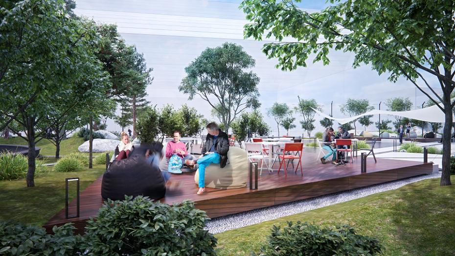 (foto) Zonă de relaxare, restaurante și săli de conferință. Cum va arăta noul parc IT din Chișinău